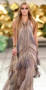 Roberto Cavalli fringed gown