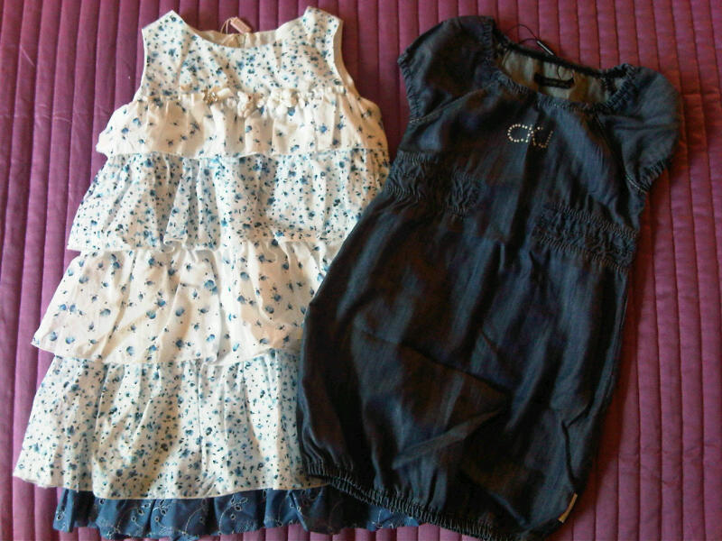 Floral party frock and Calvin Klein Jeans dress