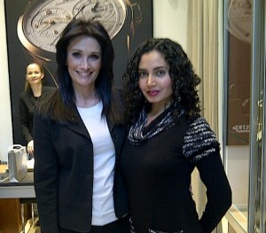 With Erminia Cutri in the Jaeger LeCoultre store