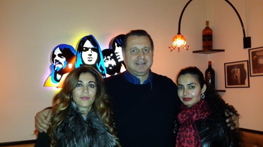 Claudia Sclavi, Giovanni Merlini, Umayya Theba at Hotel Moderno