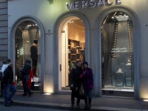 Versace store in Milan