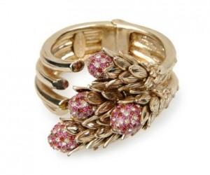 Roberto Cavalli pink-stoned bracelet