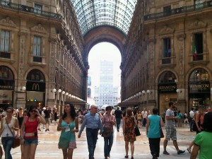 Inside the Galleria Vittorio Emanuele