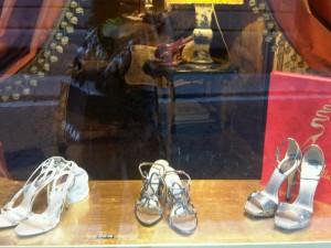 Rene Caovilla Silver Glitter Heels
