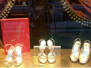 Rene Caovilla Gold Heels