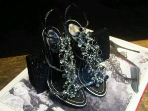 Rene Caovilla Evening Black Sandals