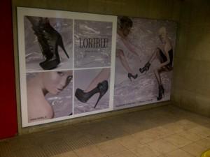Loriblu billboard at the Montenapoleone Metro station