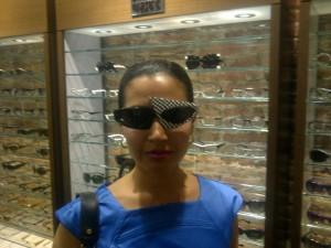 I wear trendy Mikli eyewear