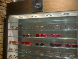 Mikli's range of red-shaded frames