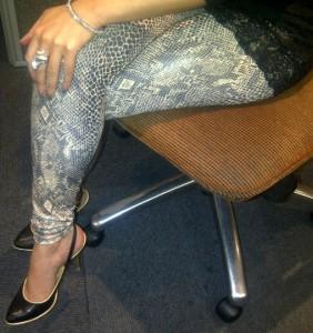 Calzedonia snake-print leggings