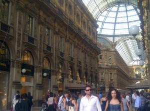 Inside the Galleria Vittorio Emanuele
