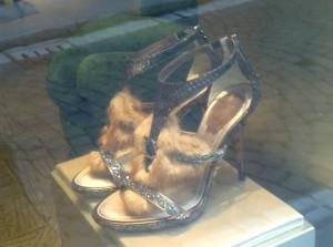 Rene Caovilla sandals with fur detail