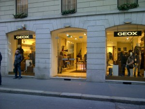 Geox store on Montenapoleone