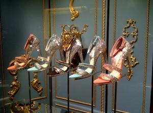 Glitter sandals from Miu Miu
