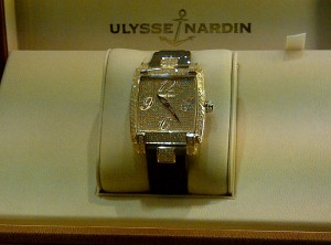 Gold and diamonds from Ulysse Nardin