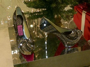 Melegari e Costa glitter platform heels