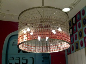 The Swatch chandelier