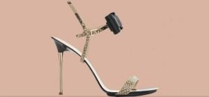 Snakeskin Carbon sandal