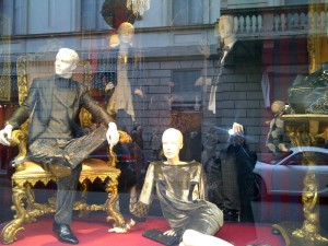 The Etro window on Via Montenapoleone