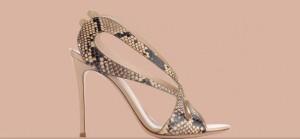 Gianvito Rossi snakeskin sandal