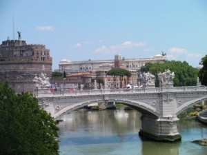 View of the Tiber River in Rome