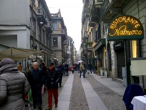 A street in the Brera district