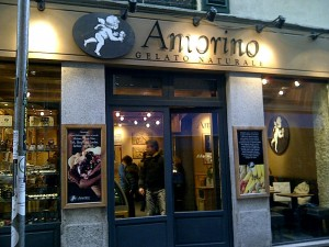 The Amorino gelateria in Brera