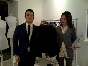 Giuseppe and Federica introduce me to the Larusmiani Fall/Winter 2012-13 collection