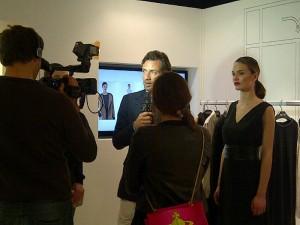 The Larusmiani CEO, Guglielmo Miani is being interviewed