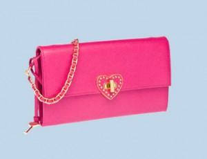 Prada envelope bag in hot pink