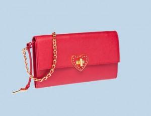 Prada envelope bag in fiery red