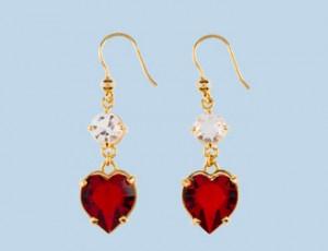 Heart earrings from Prada