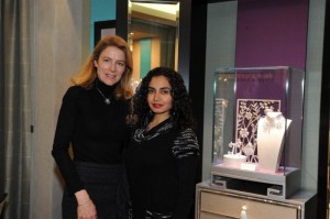 With Geraldine De Vulpian at Van Cleef & Arpels in Milan