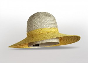 Borsalino two-toned sun hat