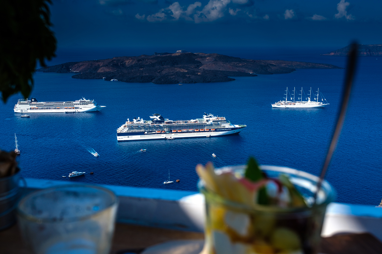 Breakfast at Santorini